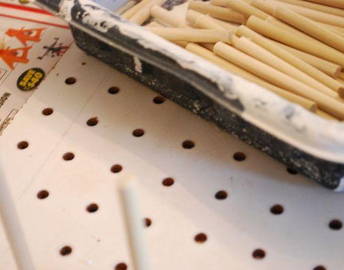 The makings of a diy thread rack