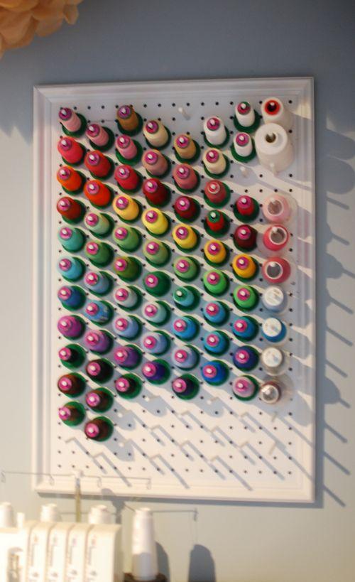 easy peasy thread rack by Creative Little Daisy