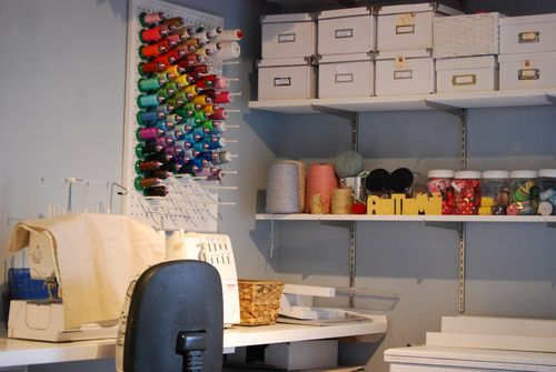 Creative Little Daisy Sewing Room- Thread Organization