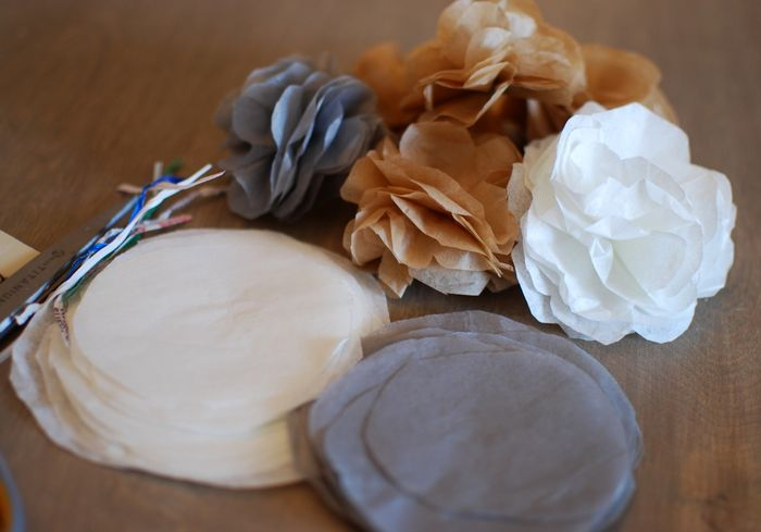 Tissue Paper Flower DIY via Creative Little Daisy blog