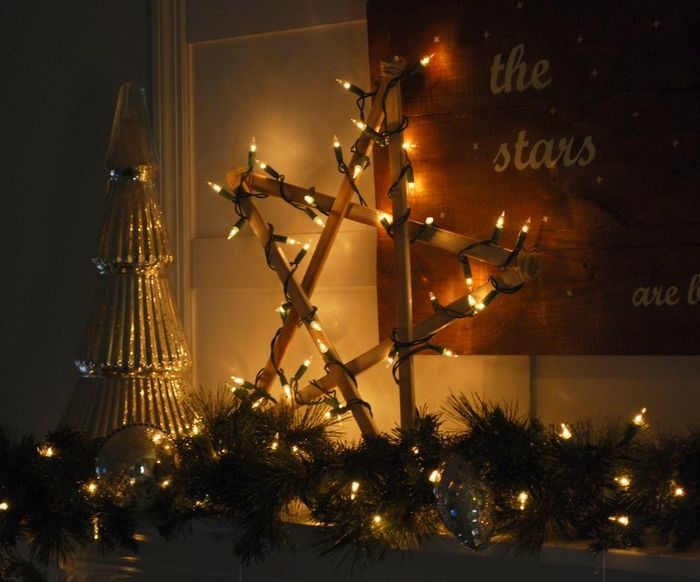 DIY rustic star