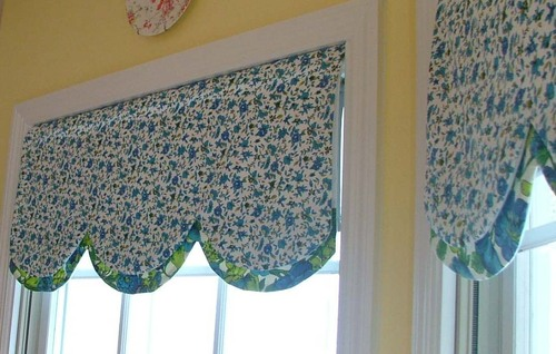 Curtain valances for kitchens - Creative Endeavors Around The House Kitchen Valances